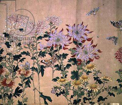 Chrysanthemums, (painting, hanging scroll)