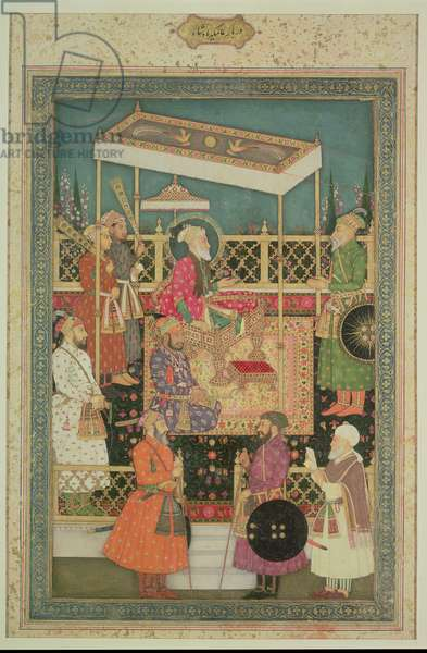 MS 34.7 Aurangzeb I (1658-1707) and courtiers, attributed to Bhawani Das, c.1710, Mughal