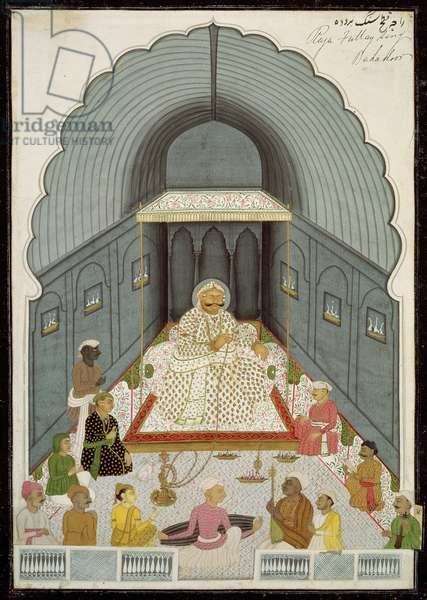 In. 70.4  Fateh Singh's (1769-1818) music party, c.1770-80 (vellum)