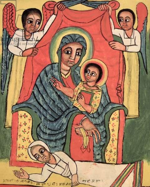 W.930 fol.46v Madonna and Child (vellum)