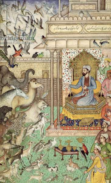 In. 04,f.74r  King Solomon and the animals, c.1595 (vellum)