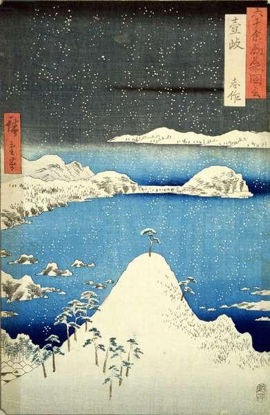 The Snowstorm (colour woodblock print)