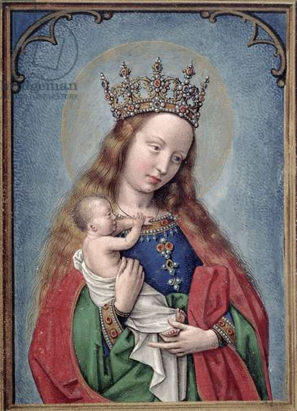 W.99 fol.44v Virgin and Child, c.1530 (vellum)