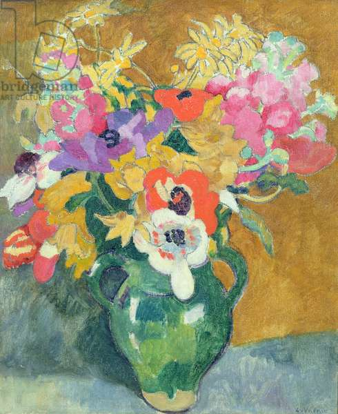 Vase of Flowers, c.1925 (oil on canvas)