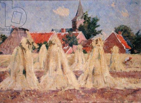 Haystacks at Wecheldergende, 1887 (oil on canvas)