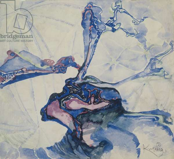 Composition, c.1918-20 (w/c, brush and ink on paper)