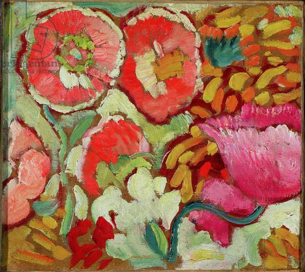 Flowers from the Garden at Agay, c.1908 (oil on card)