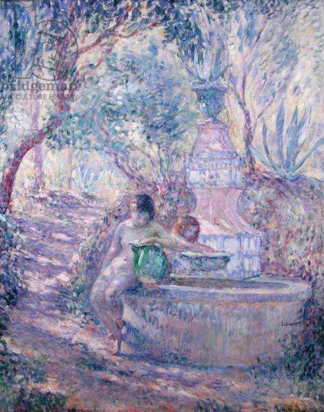 The Fountain at St.Tropez, c.1895 (oil on canvas)