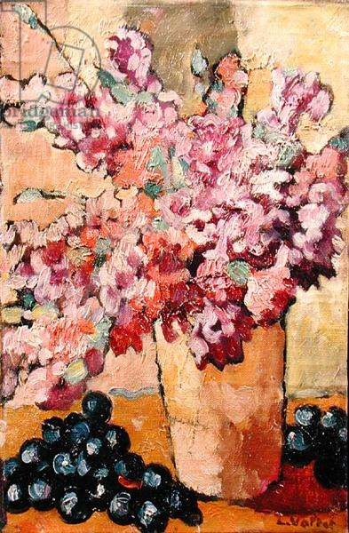 Still Life with Flowers and Black Grapes, 1938 (oil on canvas)