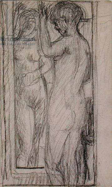 Nude in front of the Mirror, 1924 (pencil on paper)