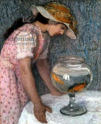Young Girl with a Goldfish