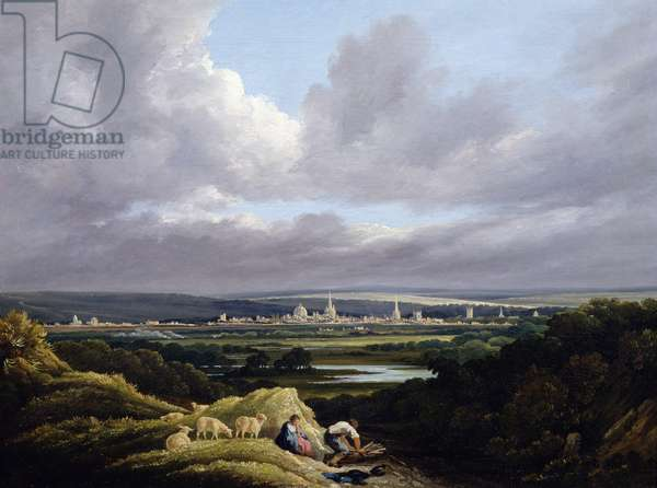 View of Oxford from a Distance (oil on canvas)