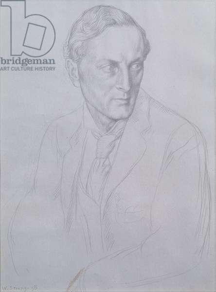 Portrait of Sir Henry John Newbolt (1862-1938) poet, 1898 (silverpoint on paper)