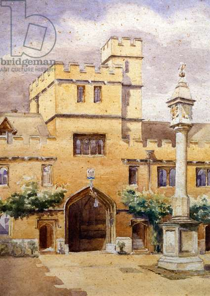 The Front Quad, Corpus Christi College, Oxford (w/c on paper)