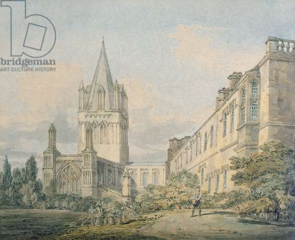 Christ Church Cathedral and Deanery, Oxford (w/c on paper)