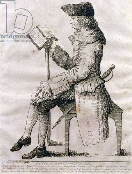 Portrait of General James Edward Oglethorpe, 1785 (engraving)
