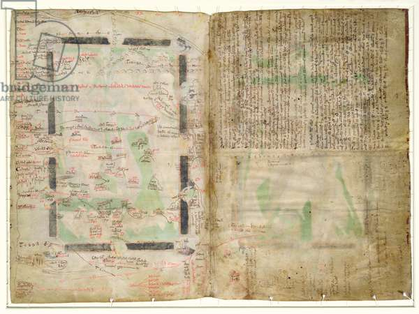 MS CCC 2* f.2v Map of Palestine (parchment)