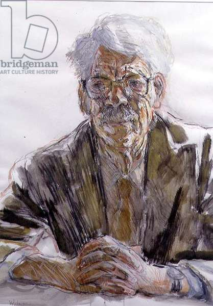 Portrait of Sir Kenneth Dover, President of Corpus Christi College, Oxford, 1975-86, 1986 (w/c on paper)