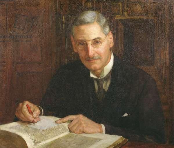 Portrait of Percy Stafford Allen (1869-1933) President of Corpus Christi College, Oxford and Erasmian scholar, 1929 (oil on canvas)