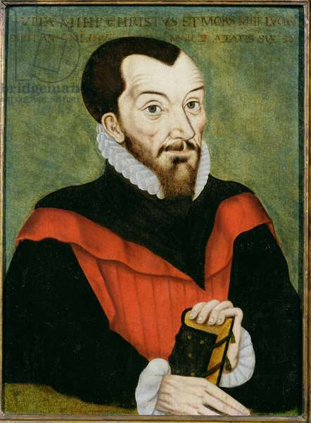 Portrait of John Rainolds (1549-1607) President of Corpus Christi College and co-editor of the Authorised Version of the Bible (oil on panel)