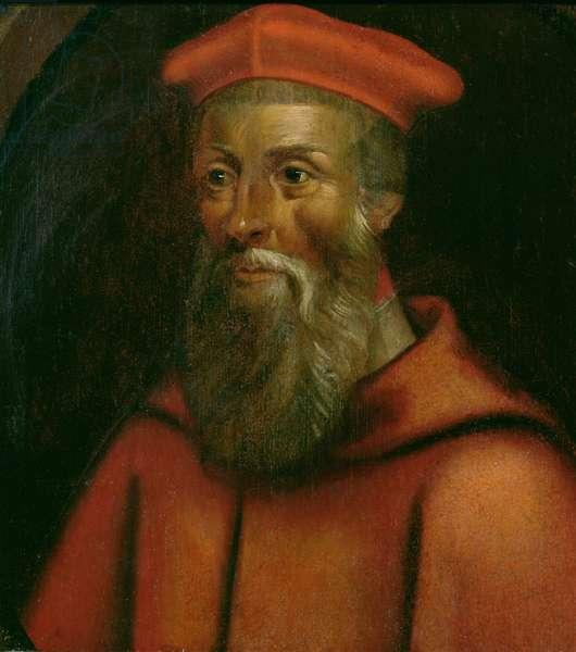 Portrait of Cardinal Reginald Pole (1500-58) Archbishop of Canterbury (oil on panel)