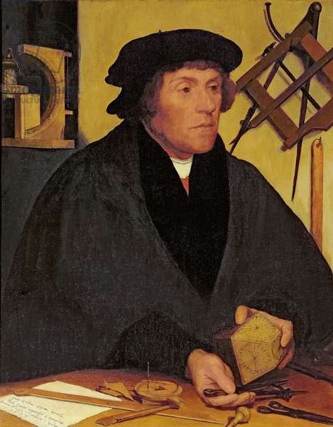 Portrait of Nicholas Kratzer (1487-c.1550) Fellow of Corpus Christi College and later Astronomer Royal to King Henry VIII, 19th century copy of 1528 original in the Louvre (oil on canvas)