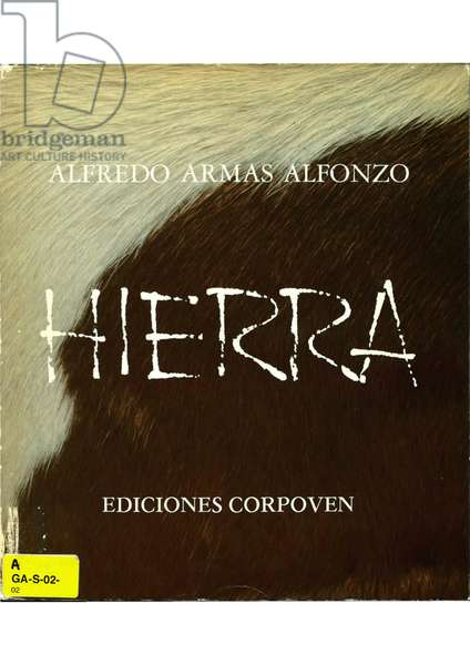 "Cover of the book ""Hierra"" by Alfredo Armas Alfonzo, Caracas, 1980 (colour litho)"