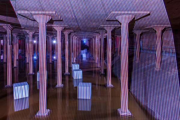 Spatial Chromointerference, 1974-2018 (video projection)