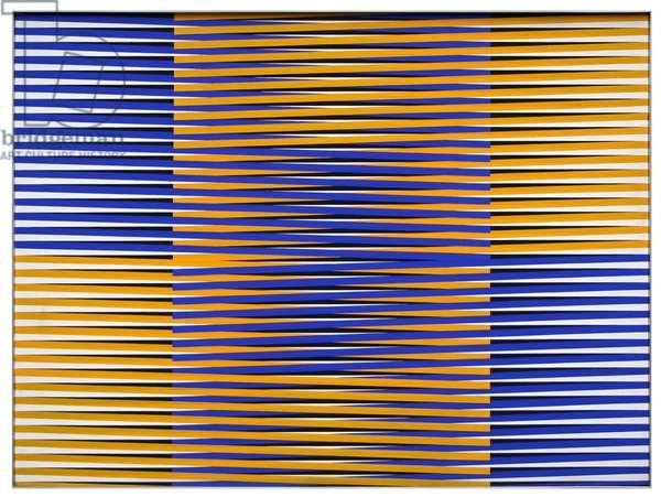 Induction Chromatique 115, 1969 (silkscreen on wood)