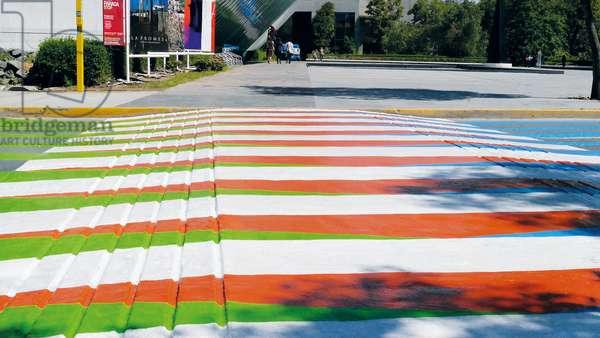 Color Aditivo, 2012 (asphalt paint pintura sobre asfaltopeinture sur asphalte)