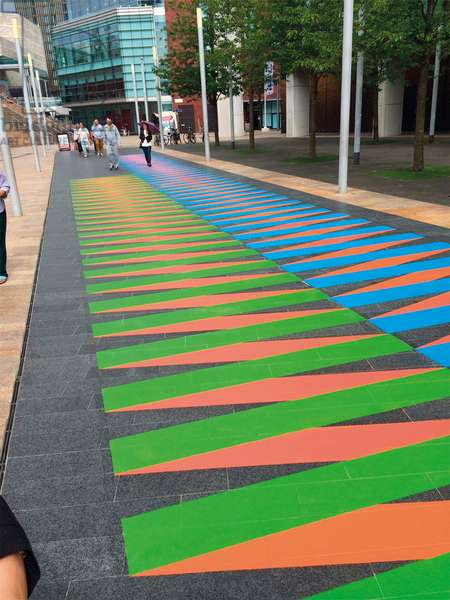 Couleur Additive Liverpool one, 2014 (acrylic paint on stone)
