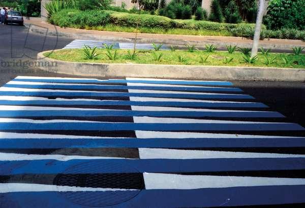 Inducción del amarillo, 1991 (asphalt paint)