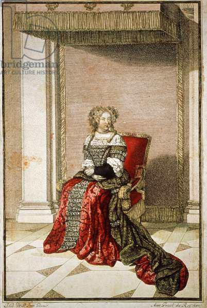 Marie Therese of Austria, 1680 (colour engraving)