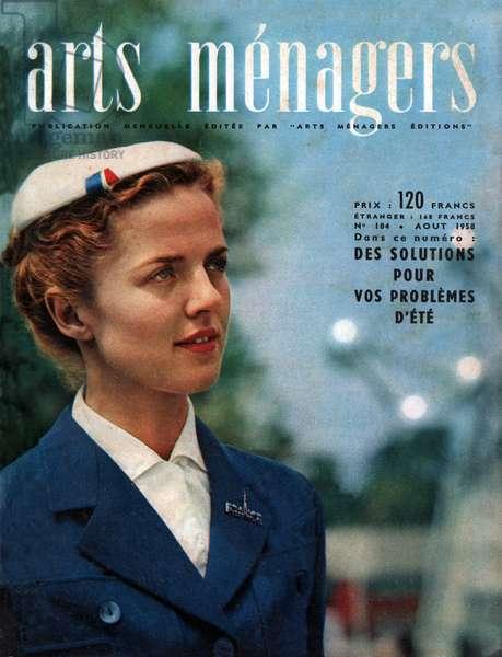 Hotesse de l'air, Stewardess, 1958 (photo)