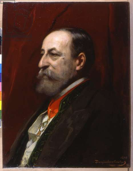 Music. Classical music. The composer Camille Saint Saens. Portrait by Benjamin Constant, France, 1898 (oil on canvas)