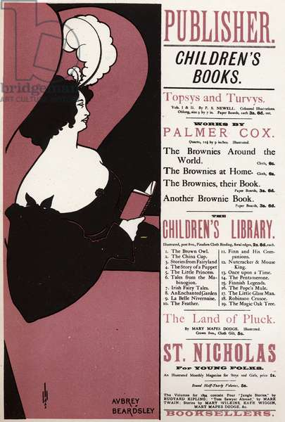 Literature. Children's book. Library in London, by, England, 1894 (poster)