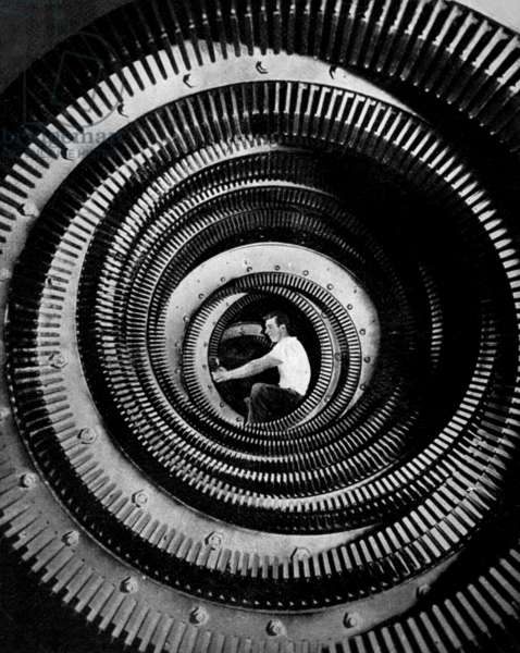 Man in the machinery