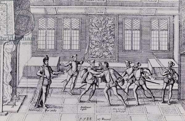 Murder of the Duke of Guise by the men of Henri 3