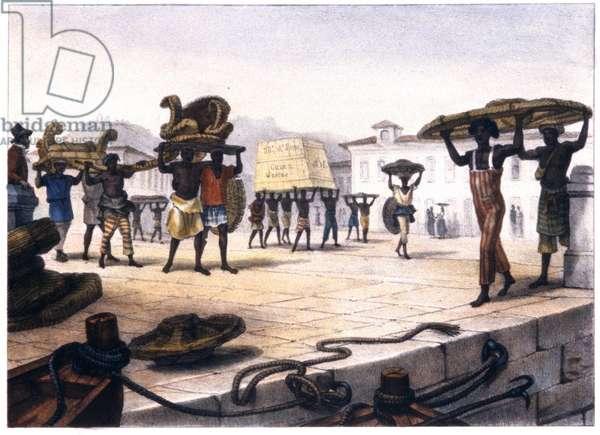 """Brasil, """"Journey picturesque et historique au Brazil"""", Paris, 1839 (colour litho)"""