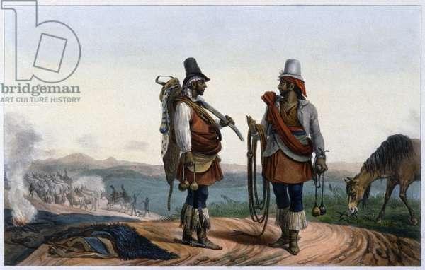 Brasil: the Chasing of Fugitive Slaves, 1939 (colour litho)