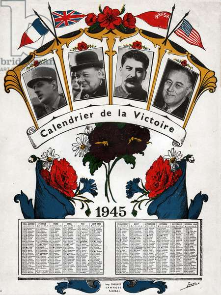 Calendrier de la victoire, 1945. Victory calendar, 1945.