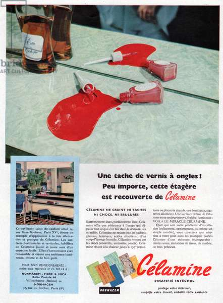 Meubles melamines, Melamined furnitures, 1957 (photo)
