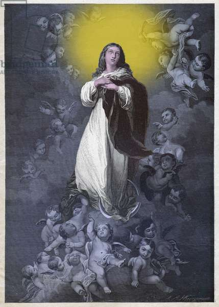 Immaculate Conception. (engraving, circa 1900)