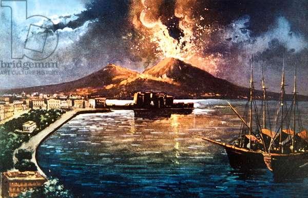 The eruption of the Vesuve in 1914