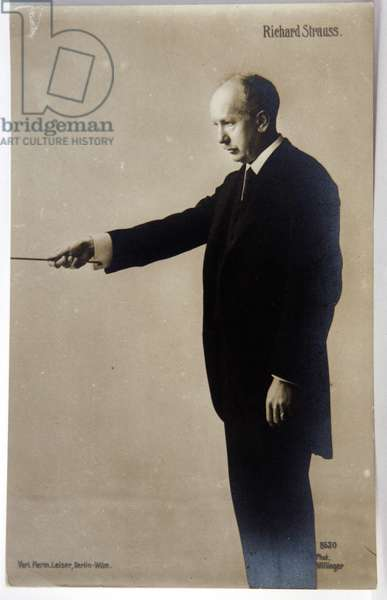 The german composer Richard Strauss. Photo by Willinnger, Germany, c.1930 (b/w photo)