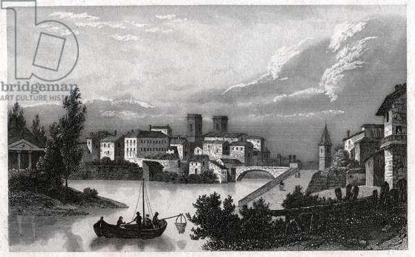 Mount of Marsan. (engraving, ca. 1840)