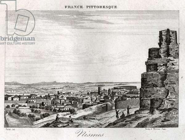 Nimes. (engraving, ca. 1850)