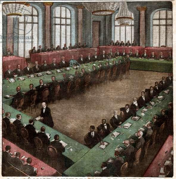 Traite de Versailles. Treaty of Versailles.