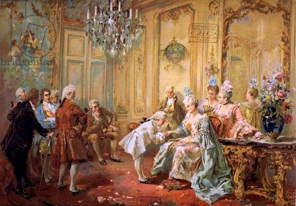 Mozart and Mme de Pompadour, 1763