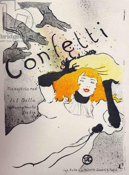 Economy. Paper Confetti by Bella Manufacture. Poster by Henri de Toulouse Lautrec, England, c.1894. (poster)